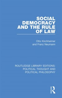 Cover Social Democracy and the Rule of Law