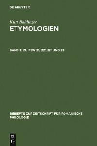 Cover Zu FEW 21, 22¹, 22² und 23