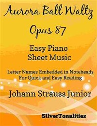 Cover Aurora Ball Waltz Opus 87 Easy Piano Sheet Music