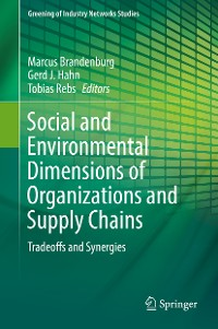 Cover Social and Environmental Dimensions of Organizations and Supply Chains
