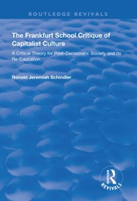 Cover Frankfurt School Critique of Capitalist Culture
