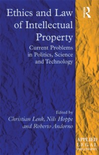 Cover Ethics and Law of Intellectual Property