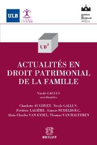 Cover Actualités en droit patrimonial de la famille