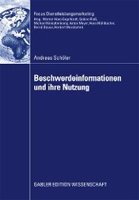 Cover Beschwerdeinformationen und Ihre Nutzung