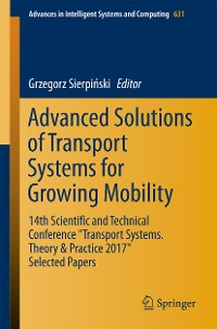 Cover Advanced Solutions of Transport Systems for Growing Mobility