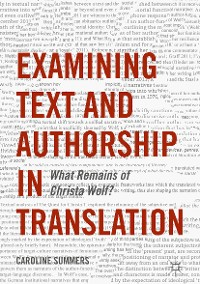 Cover Examining Text and Authorship in Translation