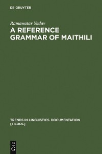 Cover A Reference Grammar of Maithili