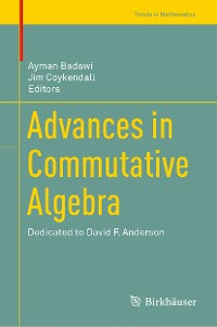Cover Advances in Commutative Algebra