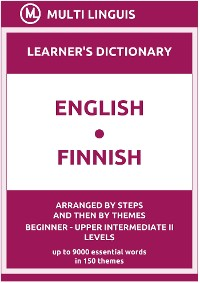 Cover English-Finnish (the Step-Theme-Arranged Learner's Dictionary, Steps 1 - 6)