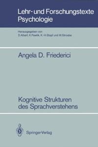 Cover Kognitive Strukturen des Sprachverstehens