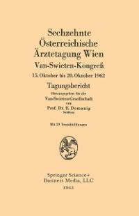 Cover Sechzehnte Osterreichische Arztetagung Wien, Van-Swieten-Kongre