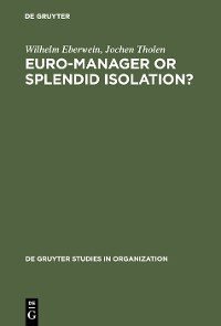 Cover Euro-Manager or Splendid Isolation?