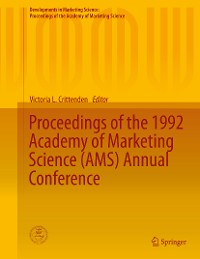 Cover Proceedings of the 1992 Academy of Marketing Science (AMS) Annual Conference