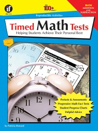 Cover Timed Math Tests, Addition and Subtraction, Grades 2--5