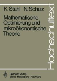 Cover Mathematische Optimierung und mikrookonomische Theorie