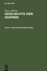 Cover Die europäischen Hunnen