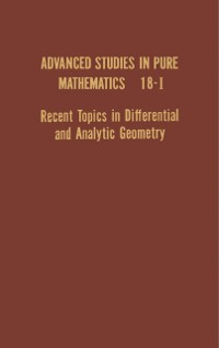 Cover Recent Topics in Differential and Analytic Geometry