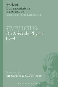 Cover Simplicius: On Aristotle Physics 1.3-4