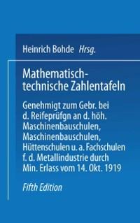 Cover Mathematisch-technische Zahlentafeln