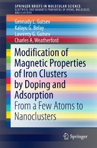 Cover Modification of Magnetic Properties of Iron Clusters by Doping and Adsorption