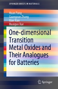 Cover One-dimensional Transition Metal Oxides and Their Analogues for Batteries
