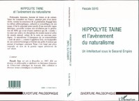 Cover HIPPOLYTE TAINE ET L'AVENEMENTDU NATURALISME