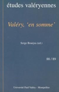 Cover Valery: en somme: etudes valeryennes 88/