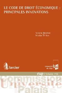 Cover Le Code de droit économique : principales innovations