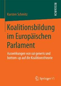 Cover Koalitionsbildung im Europäischen Parlament