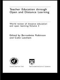 Cover Teacher Education Through Open and Distance Learning