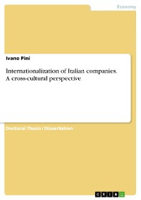 Cover Internationalization of Italian companies. A cross-cultural perspective