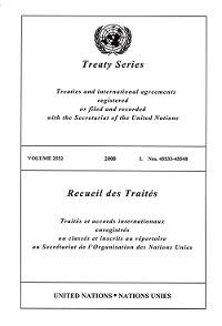 Cover Treaty Series 2552/Recueil des Traités 2552