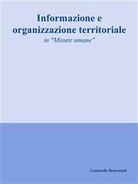 Cover Informazione e organizzazione territoriale