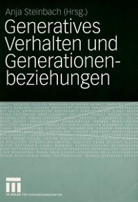 Cover Generatives Verhalten und Generationenbeziehungen