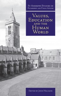 Cover Values, Education and the Human World