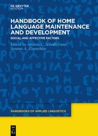Cover Handbook of Home Language Maintenance and Development
