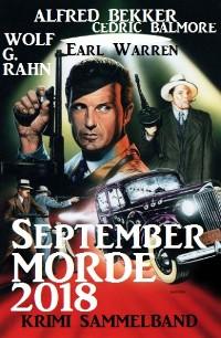 Cover September-Morde 2018: Krimi-Sammelband