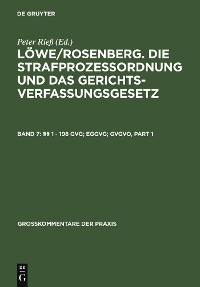 Cover §§ 1 - 198 GVG; EGGVG; GVGVO