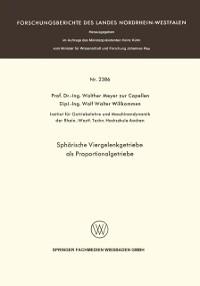 Cover Spharische Viergelenkgetriebe als Proportionalgetriebe