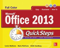 Cover Microsoft  Office 2013 QuickSteps