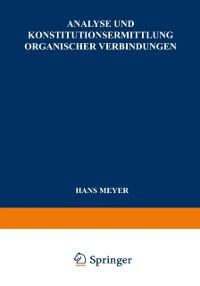 Cover Analyse und Konstitutionsermittlung Organischer Verbindungen