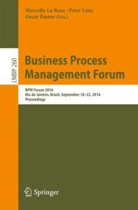 Cover Business Process Management Forum