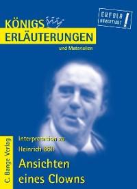 Cover Ansichten eines Clowns von Heinrich Böll. Textanalyse und Interpretation.