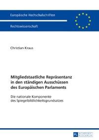 Cover Mitgliedstaatliche Repraesentanz in den staendigen Ausschuessen des Europaeischen Parlaments