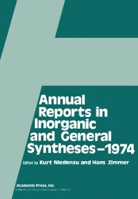 Cover Annual Reports in Inorganic and General Syntheses-1974