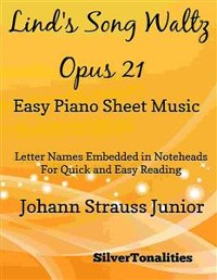 Cover Lind's Song Waltz Opus 21 Easy Piano Sheet Music