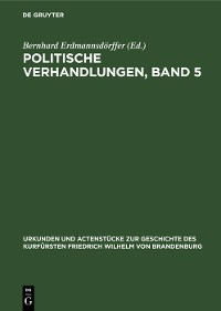Cover Politische Verhandlungen, Band 5