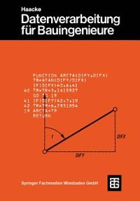 Cover Datenverarbeitung fur Bauingenieure