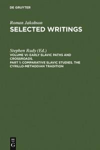 Cover Comparative Slavic Studies. The Cyrillo-Methodian Tradition
