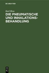 Cover Die pneumatische und Inhalations-Behandlung